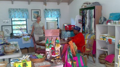 One of our gift shops in Olverston, Montserrat.