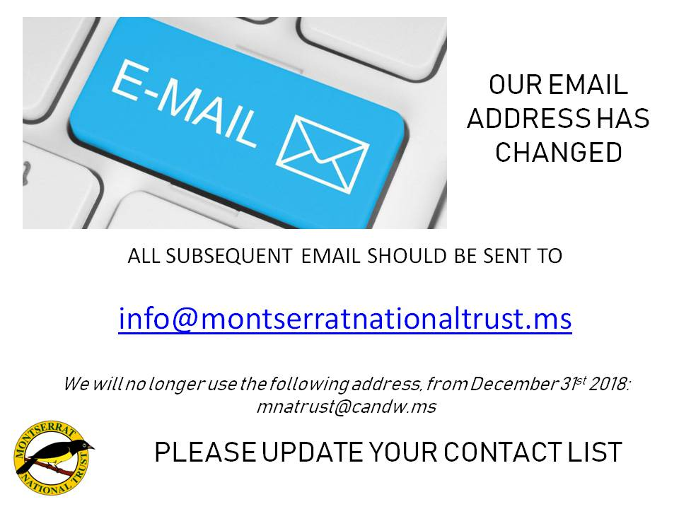 notice email address change montserrat national trust